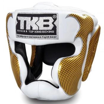 BOXING HEADGEAR TOP KING TKHGEM-01 WHITE GOLD