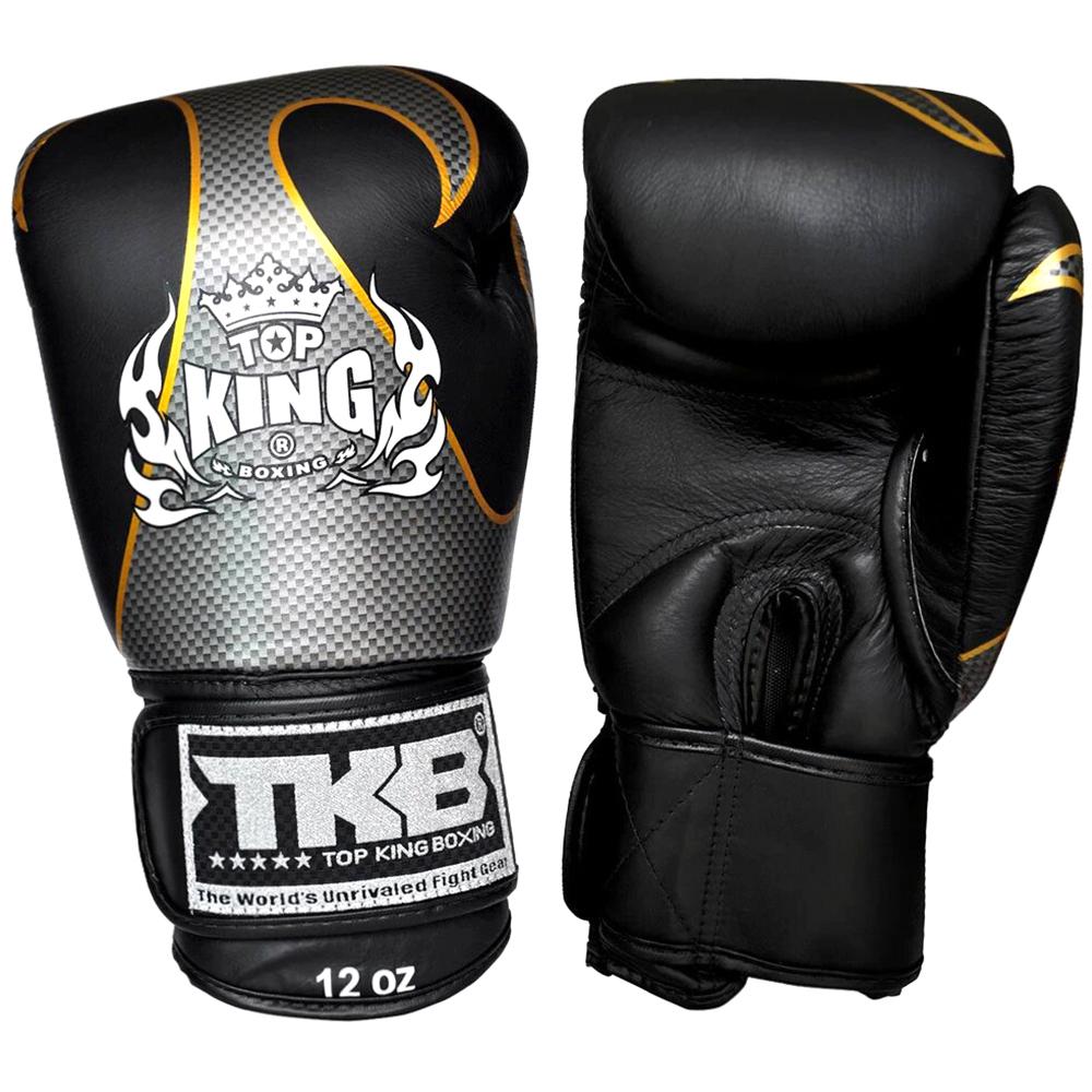 BOXING GLOVES TOP KING EMPOWER CREATIVITY TBKGEM-01 BLACK-SILVER