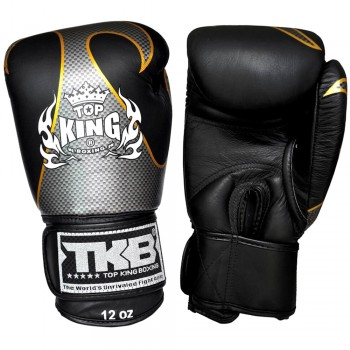 BOXING GLOVES TOP KING EMPOWER CREATIVITY TBKGEM-01 BLACK-SILVER