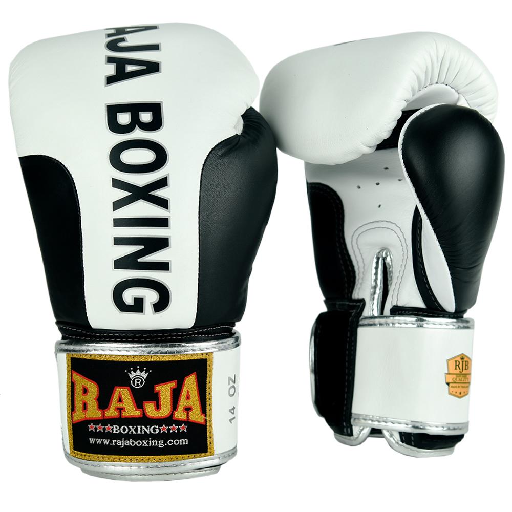 BOXING GLOVES  RAJA ORIGINAL PREMIUM WHITE-BLACK