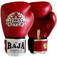 BOXING GLOVES  RAJA DOUBLE LINE RED