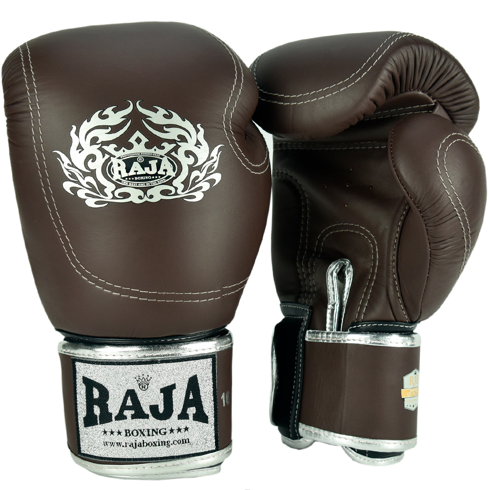 BOXING GLOVES  RAJA DOUBLE LINE BROWN