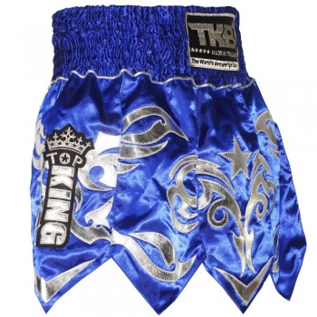 TOP KING GLADIATOR MUAY THAI SHORTS TKTBS-077 BLUE