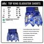MUAY THAI BOXING SHORTS TKB GLADIATOR TKTBS-077 BLUE