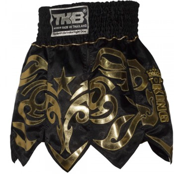 TOP KING GLADIATOR MUAY THAI SHORTS TKTBS-077 BLACK