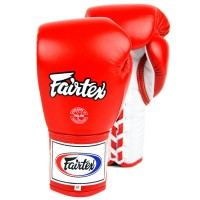 BOXING GLOVES FAIRTEX BGL6 RED LACE UP