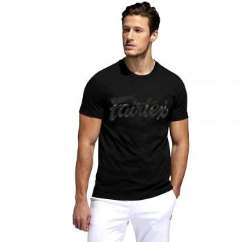 T-SHIRT FAIRTEX TST-180 MUAY THAI COTTON BLACK