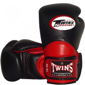 BOXING GLOVES TWINS SPECIAL BGVL-11 BLACK-RED