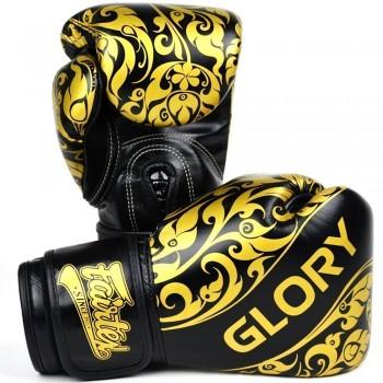 BOXING GLOVES FAIRTEX GLORY BGVG2 BLACK VELCRO