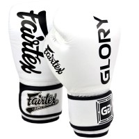 BOXING GLOVES FAIRTEX GLORY BGVG1 WHITE VELCRO