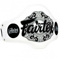 FAIRTEX BPV2  BELLY PAD MUAY THAI TRAINERS WHITE