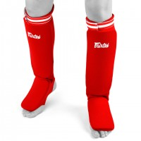 SHIN GUARDS FAIRTEX SPE1 ELASTIC COMPETITION RED