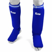 SHIN GUARDS FAIRTEX SPE1 ELASTIC COMPETITION BLUE