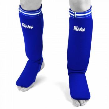 SHIN GUARDS FAIRTEX SPE1 ELASTIC COMPETITION BLUE
