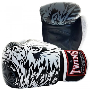 BOXING GLOVES TWINS SPECIAL FBGV-50 WOLF WHITE
