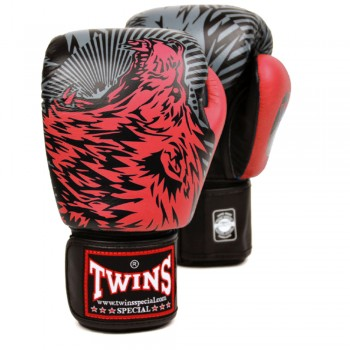 BOXING GLOVES TWINS SPECIAL FBGV-50 WOLF RED