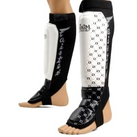 SHIN GUARDS FAIRTEX SP6 MMA STYLE WHITE
