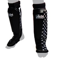 SHIN GUARDS FAIRTEX SP6 MMA STYLE BLACK