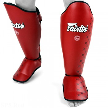 SHIN GUARDS FAIRTEX SP5 COMPETITION RED