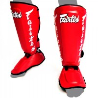 SHIN GUARDS FAIRTEX SP7 TWISTER RED