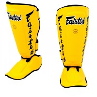 SHIN GUARDS FAIRTEX SP7 TWISTER YELLOW