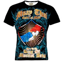 "T-SHIRTS MUAY THAI ""BORN TO BE"" COTTON  Color ""2 Fist"""