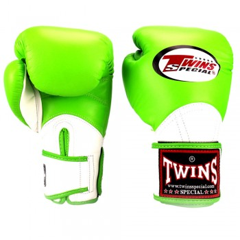 BOXING GLOVES TWINS SPECIAL BGVL-11 GREEN-WHITE