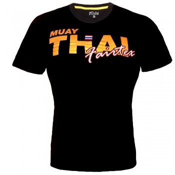 T-SHIRT FAIRTEX TST-178 MUAY THAI COTTON BLACK GOLD