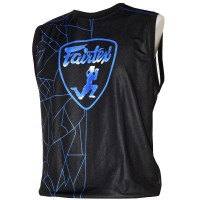 FAIRTEX MTT31 MUAY THAI POLYESTER BLACK-BLUE