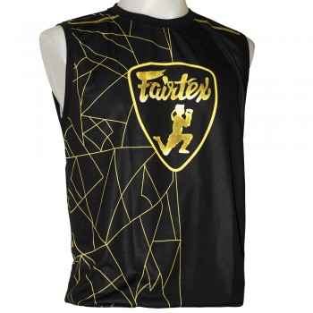 FAIRTEX MTT31 MUAY THAI POLYESTER BLACK-GOLD