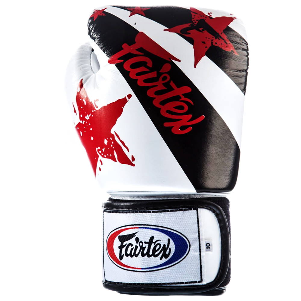 BOXING GLOVES FAIRTEX BGV1 NATION PRINT WHITE