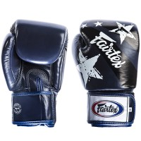 BOXING GLOVES FAIRTEX BGV1 NATION PRINT BLUE