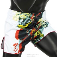 MUAY THAI SHORTS FAIRTEX BS1908 SATORUS WHITE