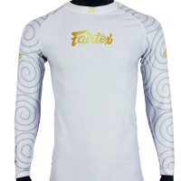 FAIRTEX HANUMAN PRO LONG SLEEVES RASHGUARD WHITE
