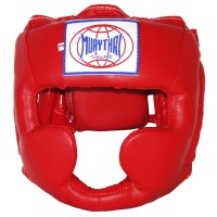 BOXING HEADGEAR BRAND MUAY THAI MTH-01 RED