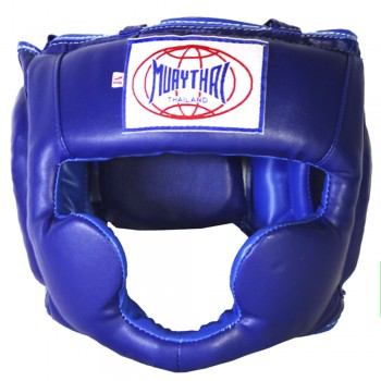 BOXING HEADGEAR BRAND MUAY THAI MTH-01 BLUE
