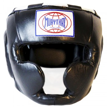 BOXING HEADGEAR BRAND MUAY THAI MTH-01 BLACK