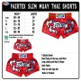 MUAY THAI SHORTS FAIRTEX BS0666 CLASSIC RED
