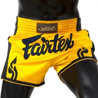 MUAY THAI SHORTS FAIRTEX BS1701 YELLOW