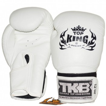 BOXING GLOVES TOP KING  TKBGSV WHITE