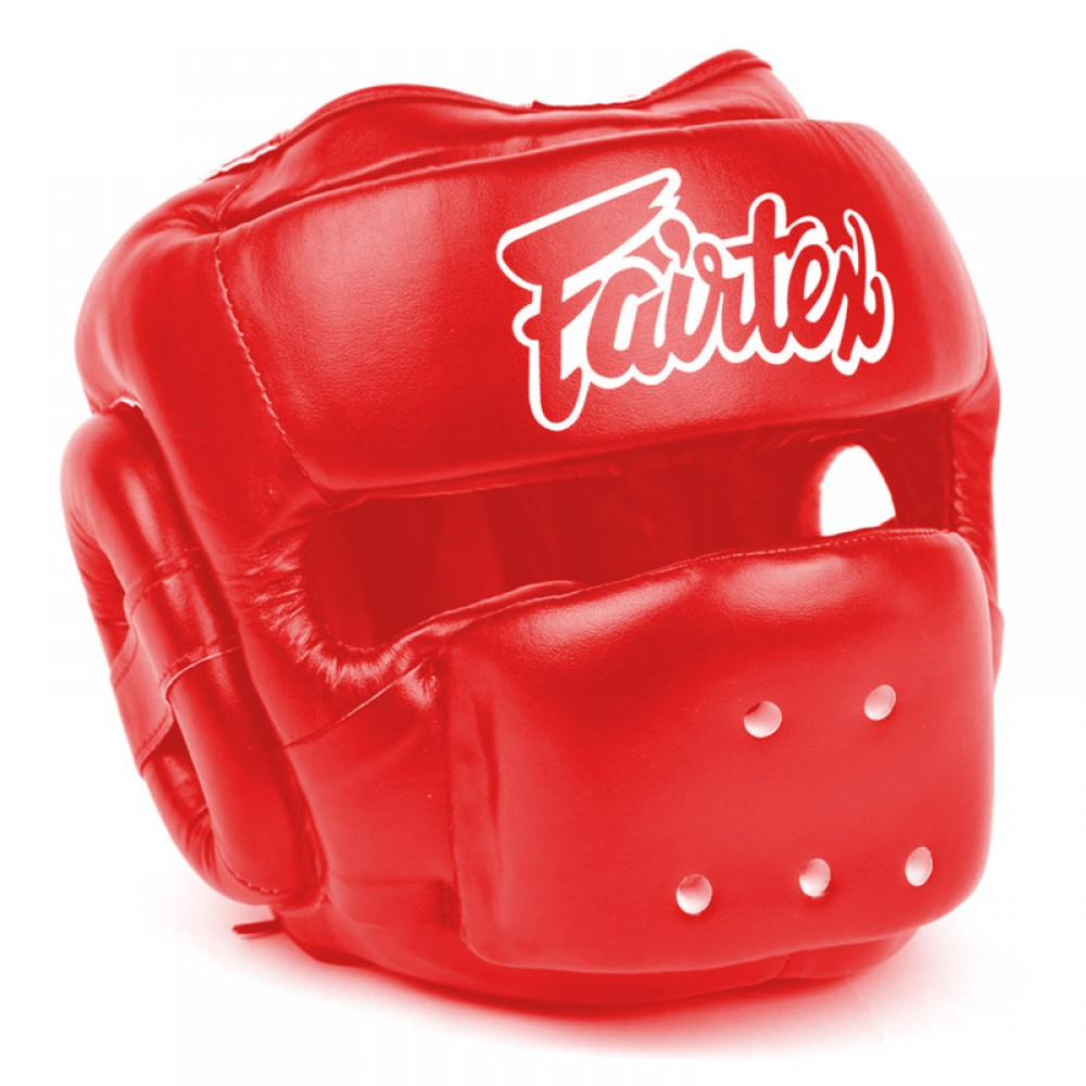FAIRTEX HG14 FULL FACE HEADGUARD HEADGEAR RED