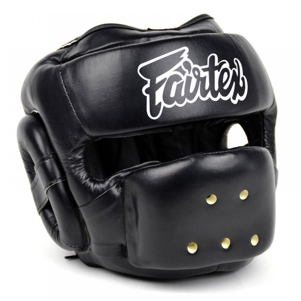 BOXING HEADGEAR HEAD GUARD FAIRTEX HG14 FULL FACE BLACK