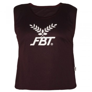 FBT MUAY THAI BOXING T-SHIRT BURGUNDY FREE SIZE FITS FOR ALL