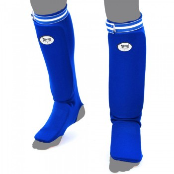 MUAY THAI BRAND COMPETITION COTTON SHIN GUARDS BLUE