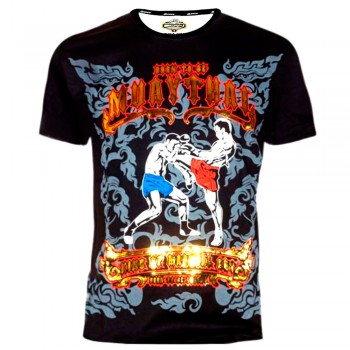 "T-SHIRTS MUAY THAI ""BORN TO BE"" COTTON  MT-8039"