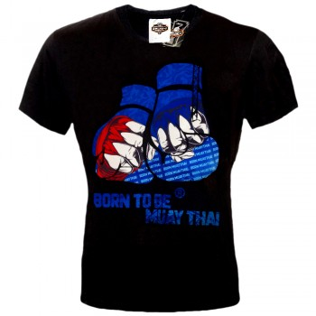 "T-SHIRTS MUAY THAI ""BORN TO BE"" COTTON  MT-8048"