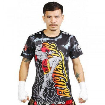 "T-SHIRTS MUAY THAI ""BORN TO BE"" PSBT-10 TECH QUICK DRY WICKING"
