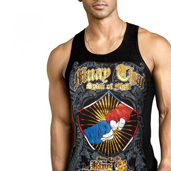 TANK TOP BORN TO BE SL-8001 COTTON BLACK