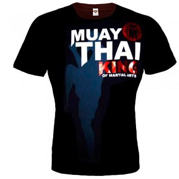 T-SHIRT MUAY THAI BOXING BORN TO BE COTTON  MT-8037