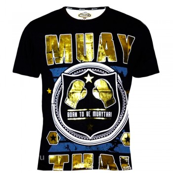 T-SHIRT MUAY THAI BOXING BORN TO BE COTTON  MT-8034